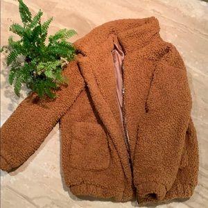 Brown Teddy coat jacket